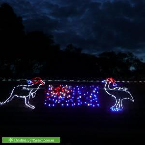 Christmas Light display at 10 Tennant Place, Jerrabomberra
