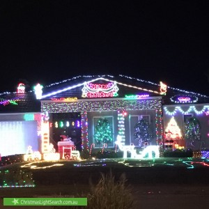 Christmas Light display at 2 Peninsula Sands Boulevard, Rosebud
