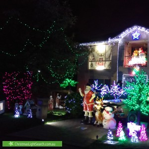 Christmas Light display at 5 Ventura Avenue, Narwee