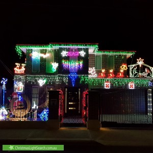 Christmas Light display at 433 Albion Street, Brunswick West