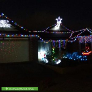 Christmas Light display at 1 Cracknell Close, Morphettville