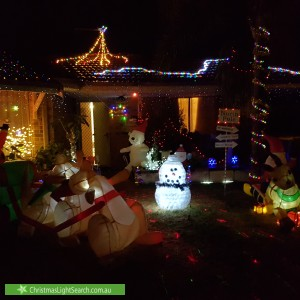 Christmas Light display at  Pitchford Glade, Clarkson