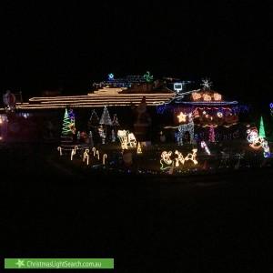 Christmas Light display at 10 Darvel Close, Kinross