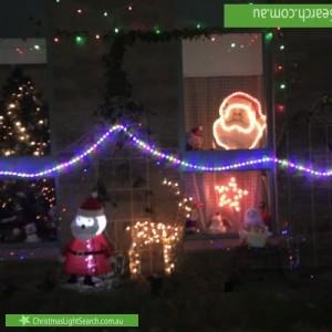 Christmas Light display at 3 Oswin Street, Kew East