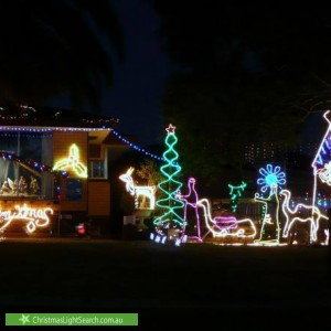 Christmas Light display at 2 Robert Arnold Avenue, Valley View