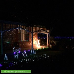 Christmas Light display at 18 Forest Street, Glandore