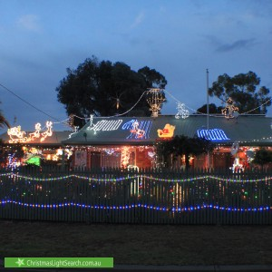 Christmas Light display at 7 Davey Street, Cobram
