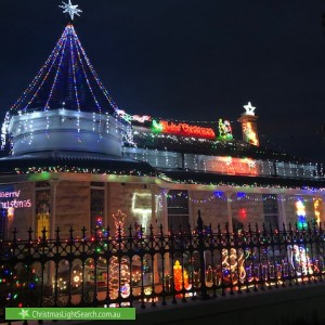 Christmas Light display at 30 Palmerston Road, Unley