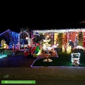 Christmas Light display at 19 Crowder Circuit, Stirling