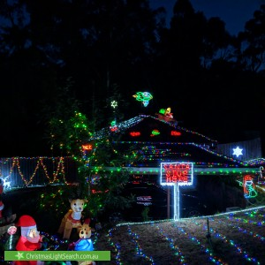 Christmas Light display at 3 Tarhilla Drive, Launching Place