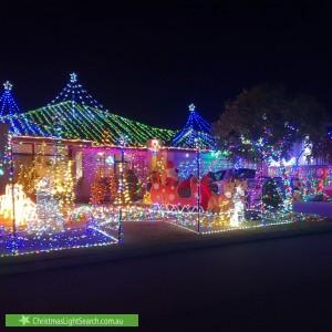 Christmas Light display at 42 Lynella Circuit, Banksia Grove