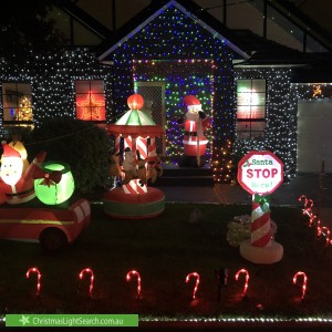 Christmas Light display at 4 Grace Street, Essendon North