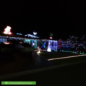 Christmas Light display at 10 Mayfield Place, Rowville