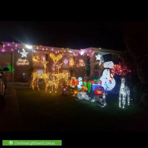 Christmas Light display at 65 Loch Lomond Drive, Modbury