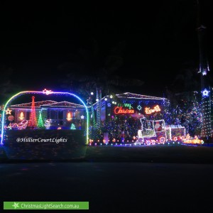 Christmas Light display at 21 Hillier Court, Flinders View