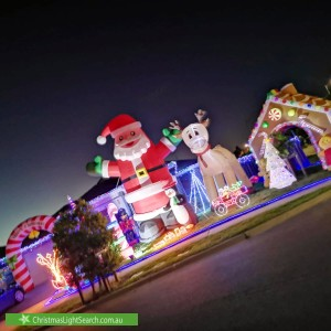 Christmas Light display at  Dewpoint Drive, Spring Farm