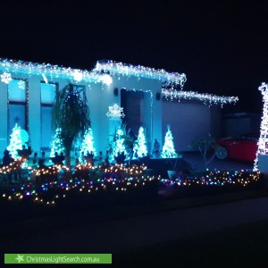 Christmas Light display at 6 Litchfield Avenue, Kellyville