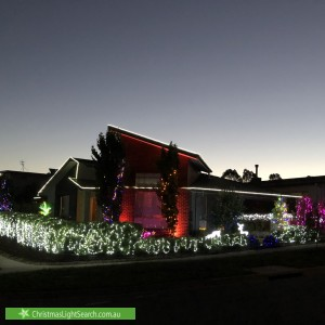 Christmas Light display at 53 David Fleay Street, Wright