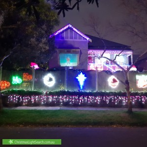 Christmas Light display at  Hurtle Street, Ascot Vale