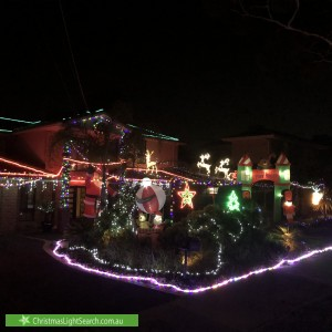 Christmas Light display at 15 Pach Road, Wantirna South