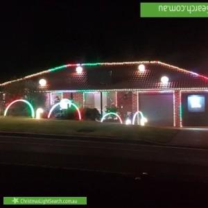 Christmas Light display at 53 Southdown Road, Elderslie