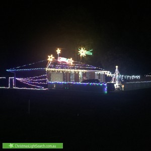 Christmas Light display at 21 Britton Road, Seville