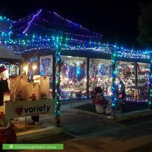Christmas Light display at 60 Alfred Street, Largs Bay