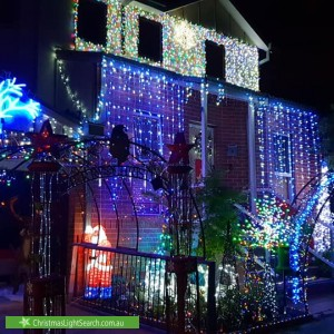 Christmas Light display at 1A Adnette Court, Coburg North
