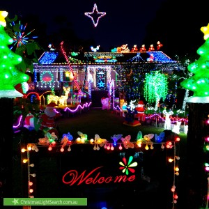 Christmas Light display at 48 Sheriff Street, Clarence Town