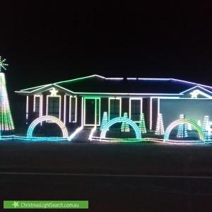 Christmas Light display at 14 Melrome Court, Kurunjang