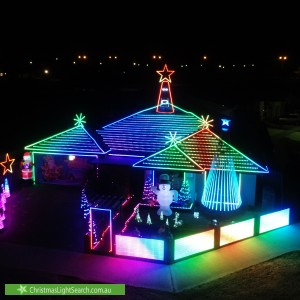 Christmas Light display at 36 Beckingham Parkway, Baldivis