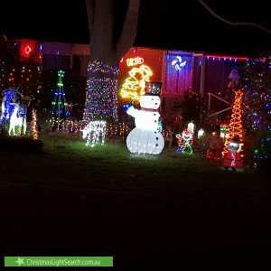 Christmas Light display at 5 Stevens Drive, Ridgehaven
