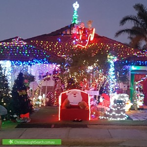 Christmas Light display at 8 La Salle Road, Alexander Heights