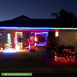 Christmas Light display at 24 Talladira Way, Woodcroft