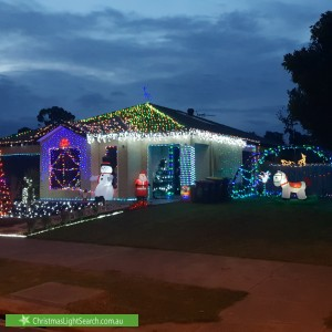Christmas Light display at 69 Summerhill Boulevard, Drouin