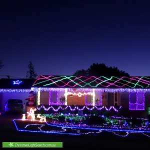 Christmas Light display at 24 Couchman Crescent, Chisholm