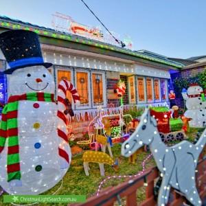 Christmas Light display at 5 Waratah Street, North Bondi