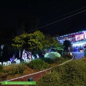 Christmas Light display at 9 Burston Road, Boronia