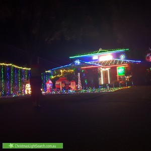 Christmas Light display at 67 Landstrom Quadrant, Kilsyth