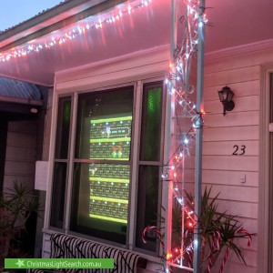 Christmas Light display at 23 Otter Street, Collingwood