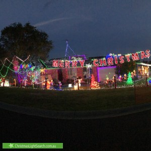 Christmas Light display at 23 The Carriageway, Glenmore Park