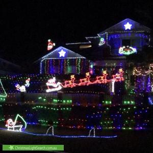 Christmas Light display at 8 Newport Gardens, Hillarys