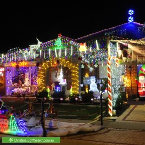 Christmas Light display at 22 Newbury Way, Alkimos