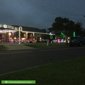 Christmas Light display at 24 River Drive, Avondale Heights