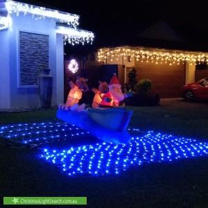 Christmas Light display at  McBride Street, Redlynch
