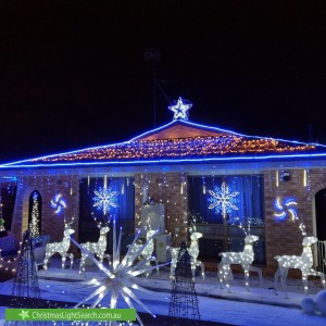 Christmas Light display at  Wirrah Street, Bayview Heights