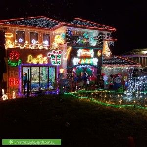 Christmas Light display at 6 Carter Crescent, Padstow Heights