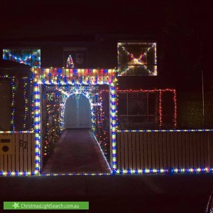Christmas Light display at 67 Harbour Drive, Patterson Lakes