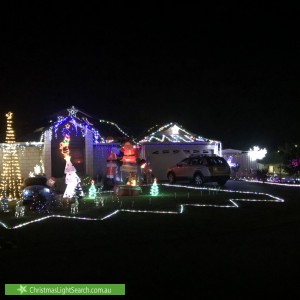 Christmas Light display at 22 Vitesse Approach, Shoalwater