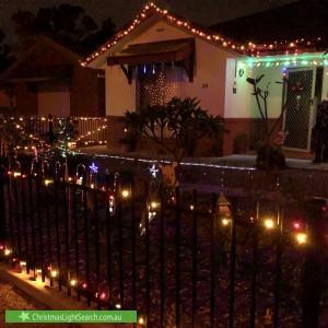 Christmas Light display at 20 Hamley Crescent, Mansfield Park